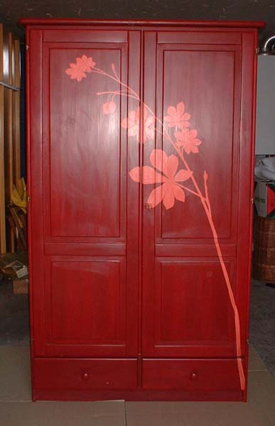 Idee meuble peint ceruse patine diy atelier catherine perche peintre et doreur depuis 1993 - Meuble patine rouge ...